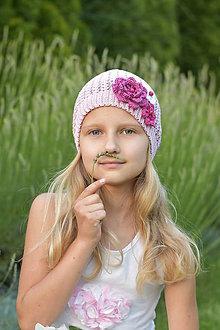 Detské čiapky - Fialová čiapočka - 10818108_