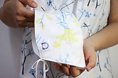 Detské čiapky - BIO-bavlnený kvarelový čepček - Mimóza - 10817167_