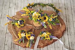 Ozdoby do vlasov - Kvetinový venček slnečnice - 10818439_