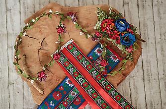 """Ozdoby do vlasov - Kvetinový pletenec z kolekcie """"Na ľudovú nôtu"""" - 10818344_"""