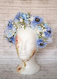 Ozdoby do vlasov - Nežná veľká kvetinová čelenka Nevädza - 10818443_