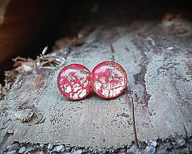 Náušnice - Krúžky 12 mm s kovovým efektom (červeno medené) - 10817742_