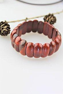 Náramky - jaspis náramok široký - 10817971_