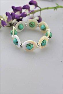 Náramky - perleť  a