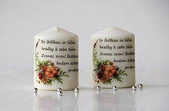Svietidlá a sviečky - Duo dekoračných sviečok pre pani učiteľky do škôlky - 10817465_