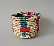 Košíky - (Bohémsky štýl) Pletený košíček - 10818154_