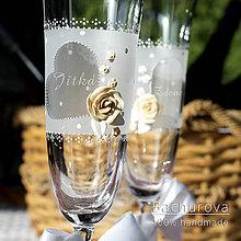 Nádoby - Svadobné poháre - 10817284_
