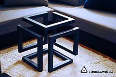 Nábytok - Konferenčný stolík Infinity Cube - 10817576_