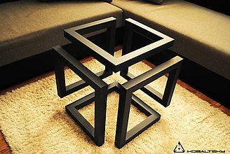 Nábytok - Konferenčný stolík Infinity Cube - 10817581_