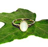 Prstene - ZLATÝ prsten PERLEŤ BÍLÁ 9*7 - 10817493_