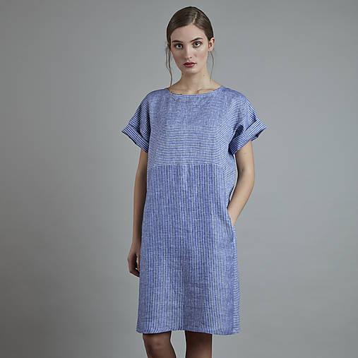 Šaty - ľanové šaty MAYA - 10818935_