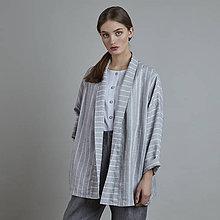 Kabáty - ľanový kabátik AKIRA - 10817678_