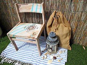 Nábytok - Drevená stolička pre malých námorníkov - 10817587_