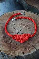 Náhrdelníky - Uzlový náhrdelník červený - 10818708_