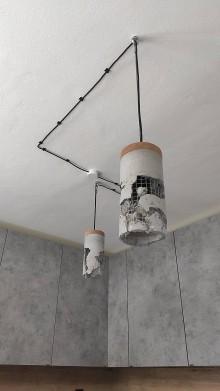 Svietidlá a sviečky - Betónová lampa - 10818212_