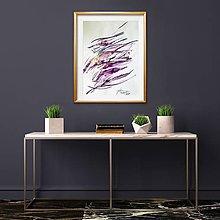 Obrazy - Violet calligraphy - 10817906_