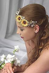 Ozdoby do vlasov - Slunečnice pro nevěstu - 10818587_