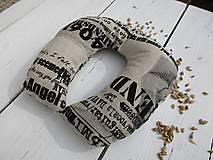 Úžitkový textil - cestovný špaldový vankúš-noviny - 10817364_