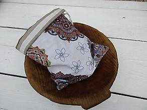 Úžitkový textil - obojstranné vrecko-mandala - 10817371_