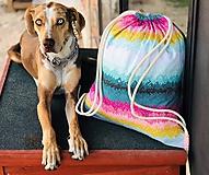 Pestrofarebný zaťahovací kockovaný batoh / Grid