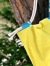 Batohy - Tyrkysovo žltý zaťahovací batoh / Paroháč - 10818560_