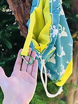 Batohy - Tyrkysovo žltý zaťahovací batoh / Paroháč - 10818563_