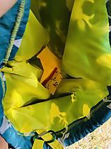 Batohy - Tyrkysovo žltý zaťahovací batoh / Paroháč - 10818565_
