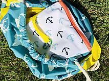 Batohy - Tyrkysovo žltý zaťahovací batoh / Paroháč - 10818568_