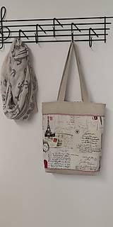 Nákupné tašky - Plátenka Pozdrav z Eifelovky - 10818784_
