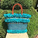 Iné tašky - Originálna letná košíková kabelka do ruky - 10817521_