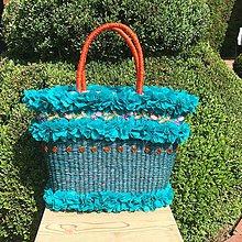 Kabelky - Originálna letná košíková kabelka do ruky - 10817521_