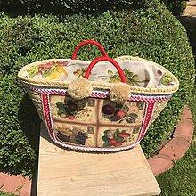 Kabelky - Originálna letná košíková kabelka do ruky - 10817613_