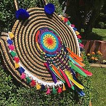 Kabelky - Originálna letná okrúhla kabelka na rameno - 10817722_