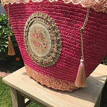 Kabelky - Originálna letná romantická košíková kabelka do ruky - 10818000_