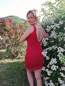 Šaty - Bavlnené šaty s viazačkou na chrbte - 10818650_