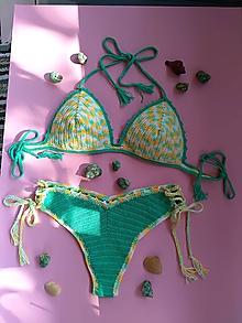 Bielizeň/Plavky - Háčkovné plavky -bambusky jednoduché - 10818690_