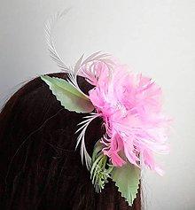 Ozdoby do vlasov - Fascinátor z peria - 10817910_