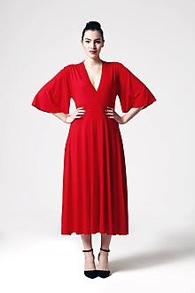 Šaty - Šaty červené so širokými rukávmi - 10819780_