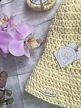 Čiapky - Letný klobúk-100% bavlna-vanilka - 10820074_