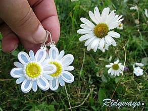 Náušnice - Margaréta menšie...soutache - 10820617_