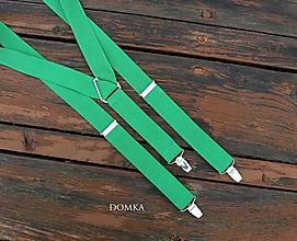 Doplnky - Pánske traky  (Zelená) - 10821183_