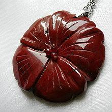 Náhrdelníky - Kvet z červeného jaspisu - 10821788_