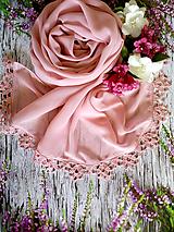 Šály - Růžový prach - šifonový šál starorůž - 10820046_