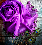 Šály - Tisíc pocitů - šifonový šál s krajkou - 10821246_