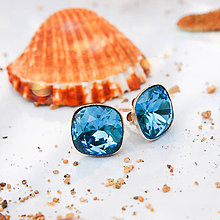 Náušnice - ♥ Heart of the Ocean - stříbrné Ag925 + Swarovski - 10821378_