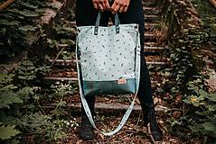 Veľké tašky - Veľká taška zelený korok a vážky - 10819444_