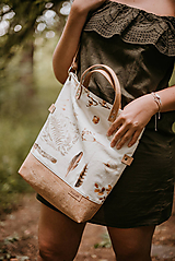 Veľké tašky - Veľká taška botanika - 10819489_