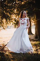 Šaty - Saténové svadobné šaty - 10819352_