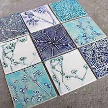 Dekorácie - Obkladačky azúrova,modrá,zelená - 10819824_