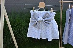 Detské oblečenie - Dievčenská sukňa Nica s mašľou - 10820273_